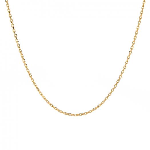 Łańcuszek srebrny pozłacany 47 cm