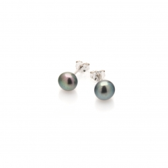 Kolczyki CLASSY srebrne z perłą