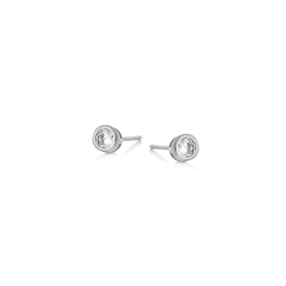 Kolczyki GLAMOUR srebrne z cyrkoniami