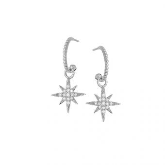 Kolczyki ROCK IT srebrne z cyrkoniami i gwiazdkami