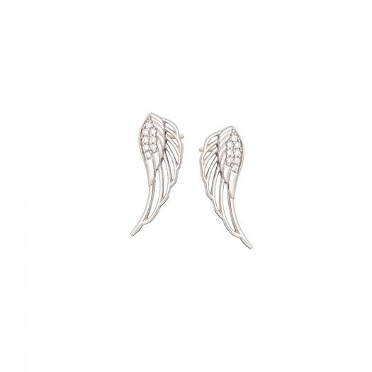 Kolczyki BOHO srebrne ze skrzydłem