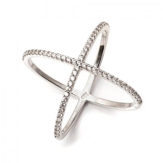 Pierścionek CEREMONY srebrny z cyrkoniami