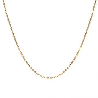 Łańcuszek srebrny pozłacany 45 cm