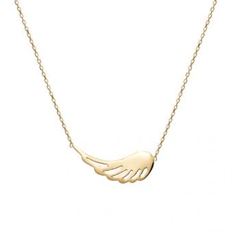 Naszyjnik SOFT złoty ze skrzydłem