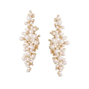 Kolczyki CEREMONY srebrne pozłacane z perłami