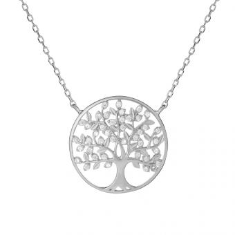 Naszyjnik BOHO srebrny z drzewkiem