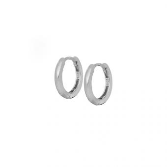 Kolczyki ROCK IT srebrne pozłacane kółka