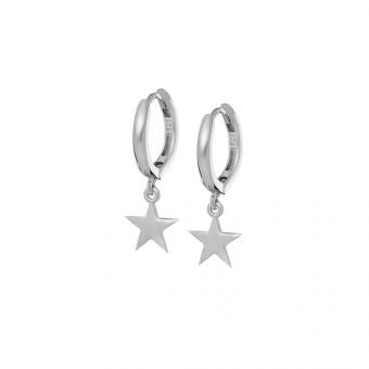 Kolczyki ROCK IT srebrne pozłacane z gwiazdkami