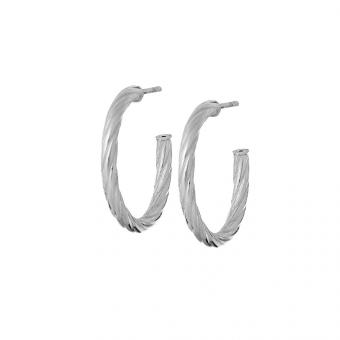 Kolczyki URBAN CHIC srebrne koła 2,5 cm