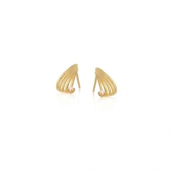 Kolczyki VINTAGE srebrne pozłacane z naturalną perłą