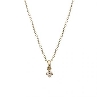 Naszyjnik DIAMONDS złoty 585 z brylantem