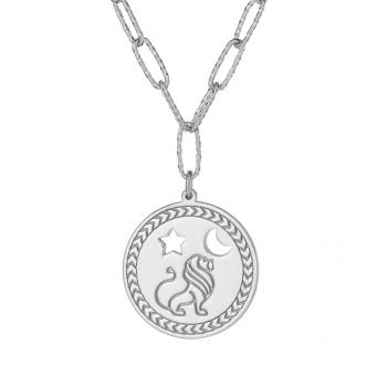 """Długi naszyjnik AMULET srebrny z napisem """"jesteś silna"""""""