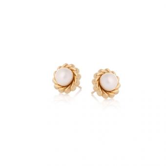 Kolczyki DOLCE VITA złote z naturalnymi perłami