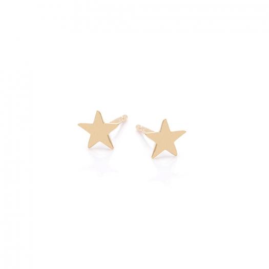 Kolczyki GOLDIE złote gwiazdka