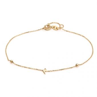 Bransoletka GOLDIE złota z błyskawicą i kuleczkami