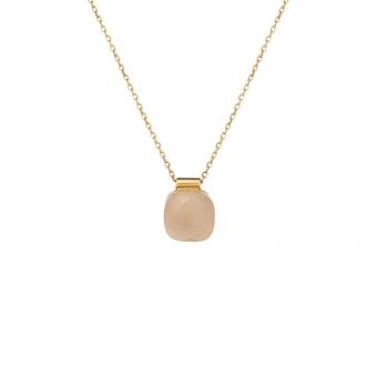 Naszynik VENUS srebrny pozłacany z beżowym kryształem