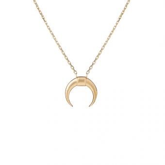 Naszyjnik SOFT złoty z księżycem