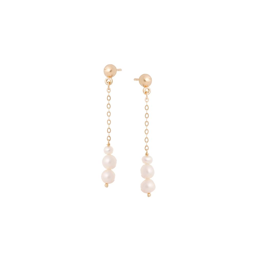 Kolczyki DOLCE VITA złote z naturalną perłą