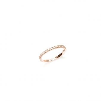 Pierścionek MONA srebrny pozłacany na różowo z cyrkoniami