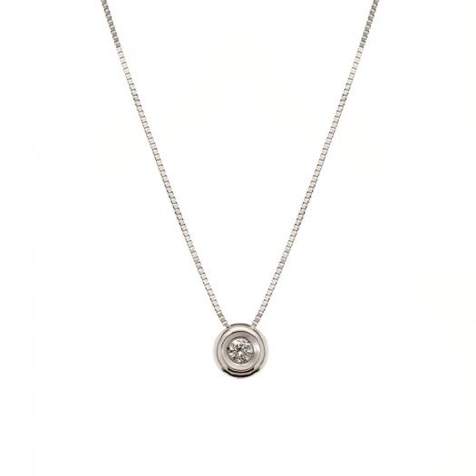 Naszyjnik DIAMONDS białe złoto 585 z brylantem