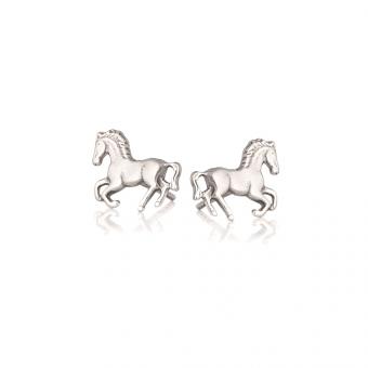Kolczyki BELIEVE srebrne z konikami