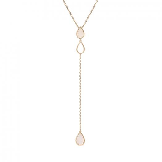 Naszyjnik złoty NYKS z masą perłową