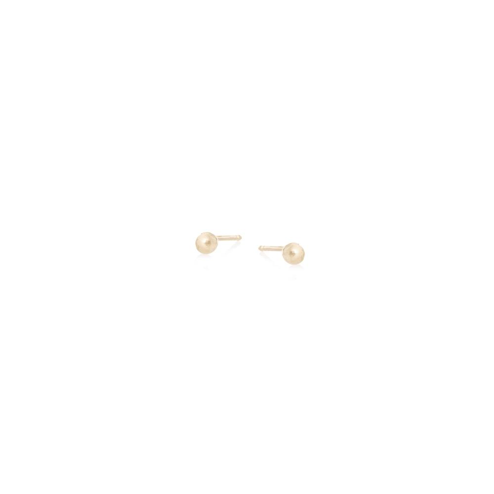 Kolczyki SOFT złote z kuleczkami