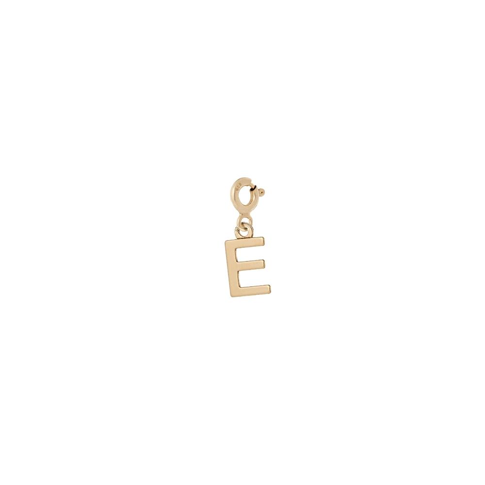 Charms MIX IT srebrny pozłacany z literką E