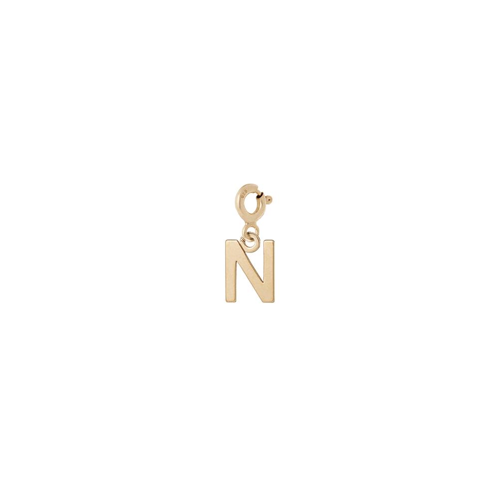 Charms MIX IT srebrny pozłacany z literką N