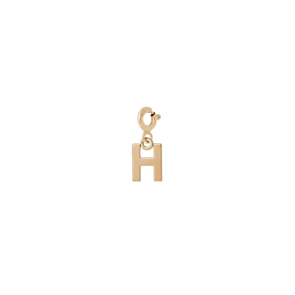 Charms MIX IT srebrny pozłacany z literką H