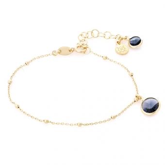 bransoletka VENUS srebrna pozłacana z kryształem Swarovskiego