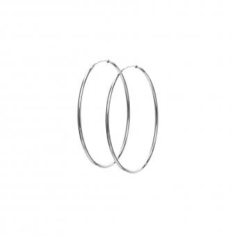 Kolczyki TRENDY srebrne koła 3,5 cm