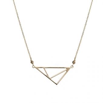 Naszyjnik GOLDEN EYE złoty z trójkątem