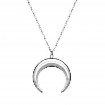 Naszyjnik SKY srebrny z księżycem
