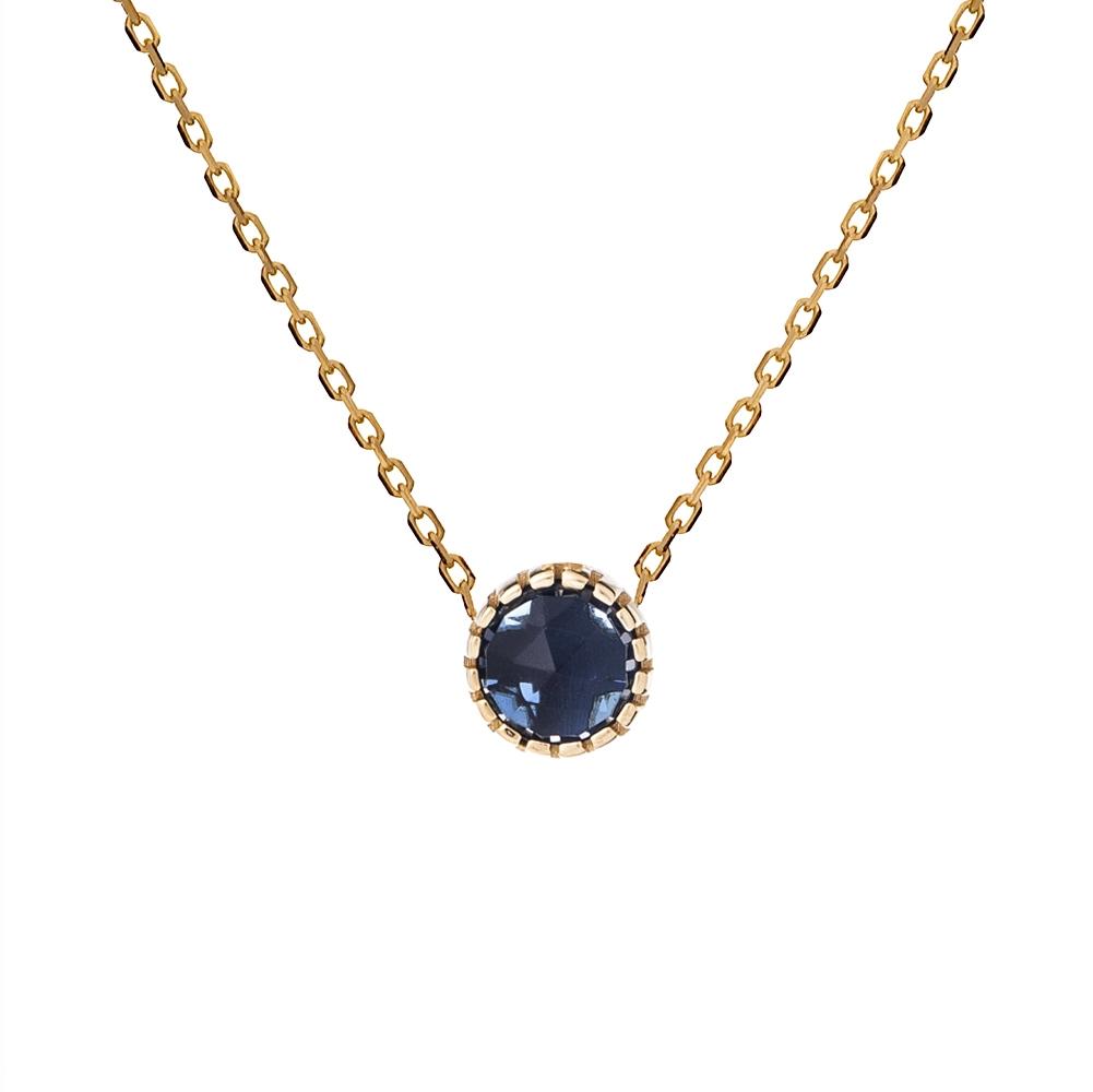 Naszyjnik DOLCE VITA złoty z niebieskim kwarcem