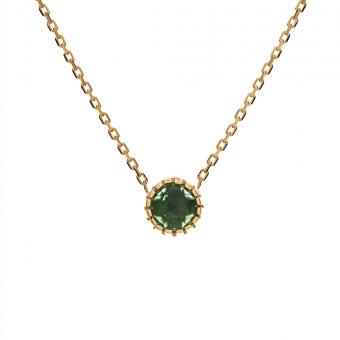 Naszyjnik DOLCE VITA złoty z zielonym kwarcem