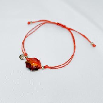 Bransoletka sznurkowa LARA z kryształem Swarovskiego